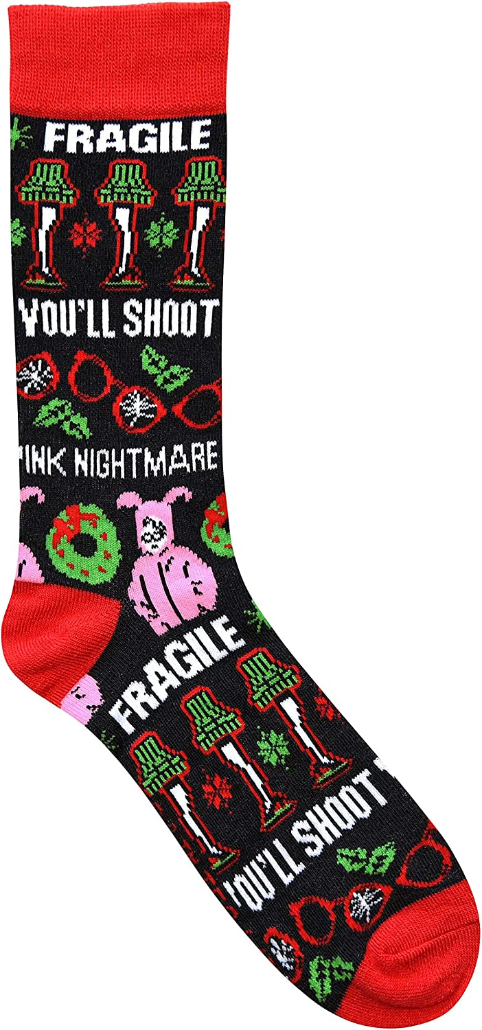 Hyp A Christmas Story Ugly Sweater Pattern Crew Christmas Socks