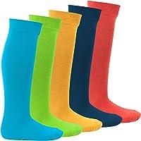 Footstar EVERYDAY! KIDS Knee Socks - 5 pairs of girl's/boy's long socks - cotton