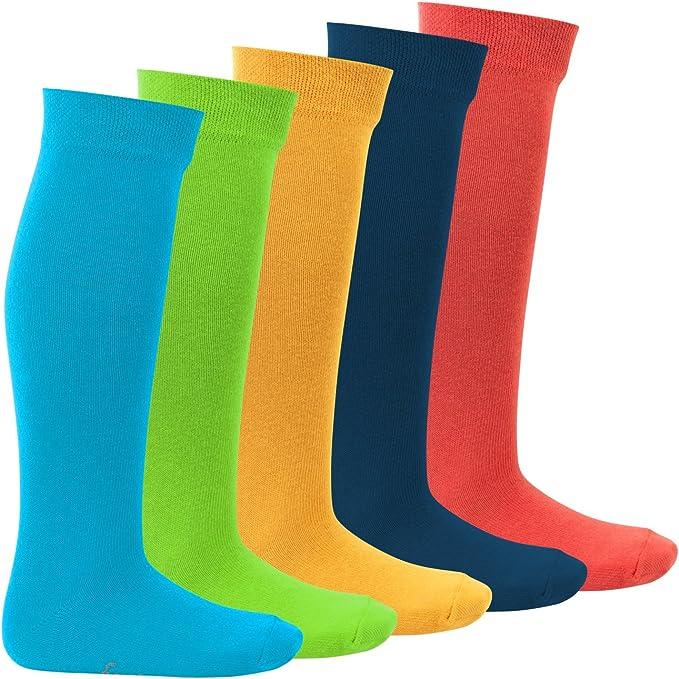 in cotone Calza al ginocchio KIDS 5 paia di calze lunghe bambino Footstar EVERYDAY!