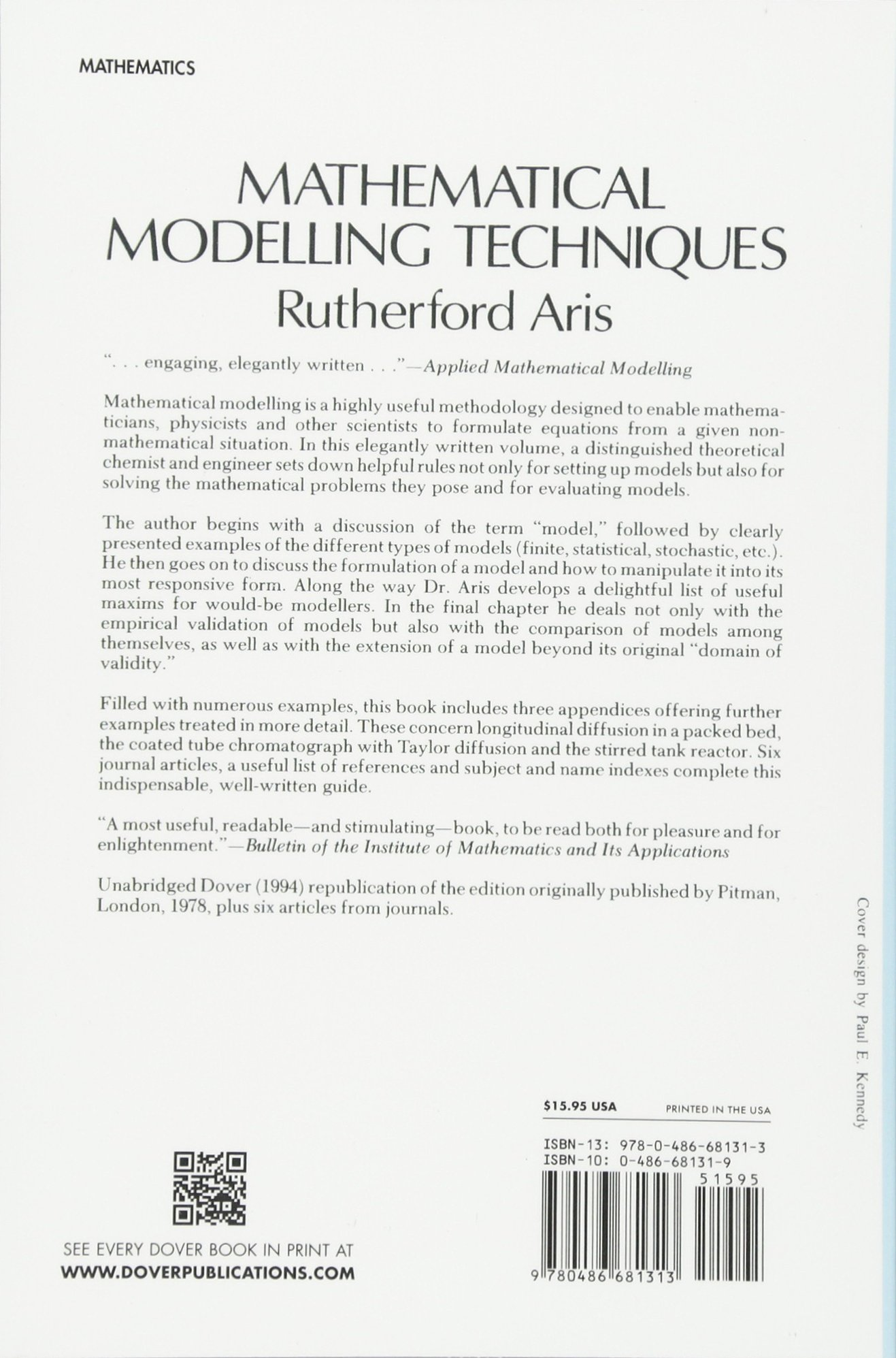 Buy Mathematical Modelling Techniques (Dover Books on Computer ...