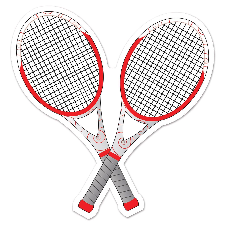 12.5 Beistle Tennis Racquets Cutout Multicolor 12.5 54741
