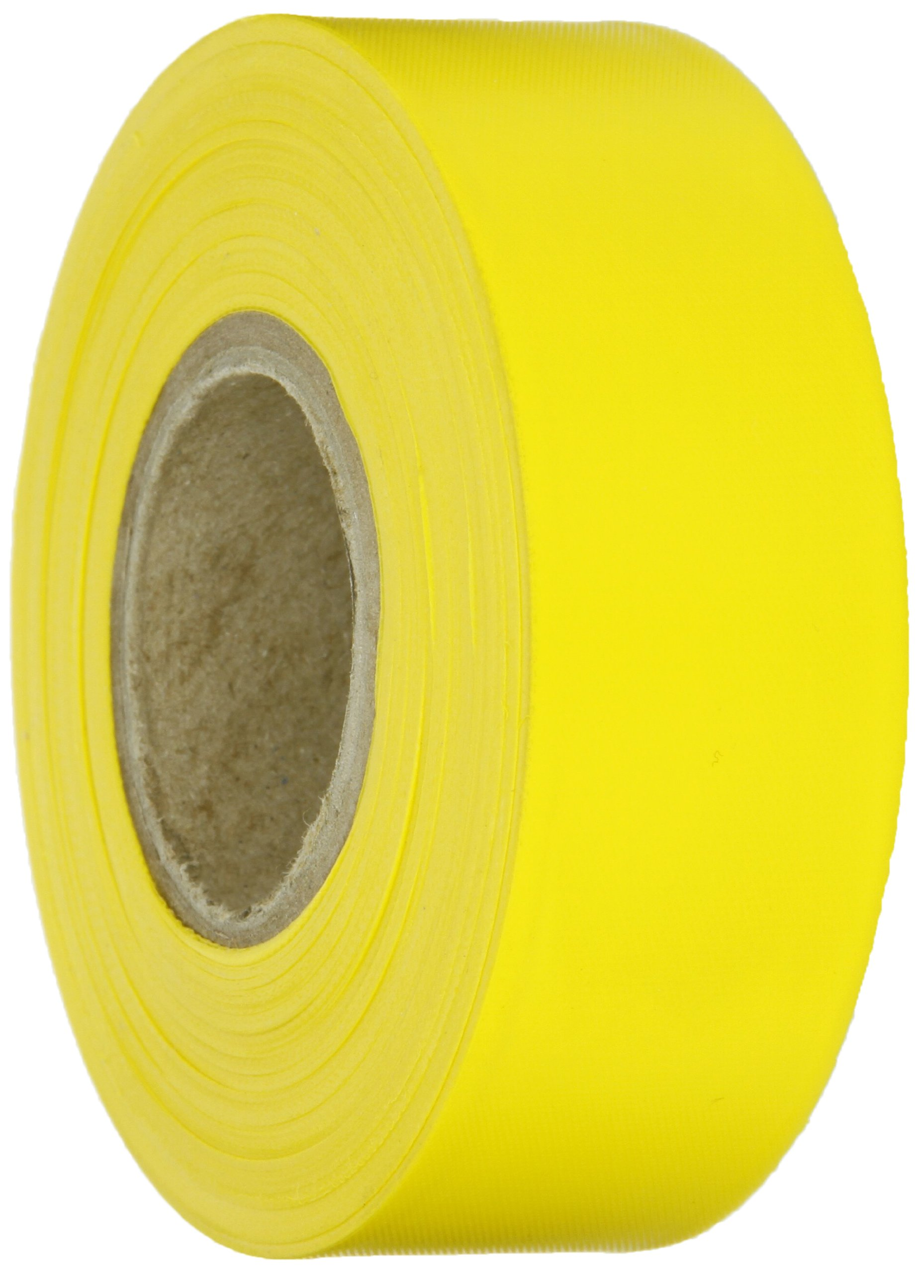 Brady Yellow Flagging Tape for Boundaries and Hazardous Areas - Non-Adhesive Tape, 1.188'' Width, 300' Length (Pack of 1) - 58347