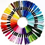 Embroidery Floss Crossstitch Thread – Friendship Bracelets Floss– Crafts Floss– 50 Skeins Embroidery Thread Premium Rainbow Color …