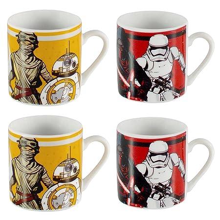 Star wars ceramic espresso cups set of 4 x 50ml stackable mini star wars ceramic espresso cups set of 4 x 50ml stackable mini single shot decorative printed malvernweather Images