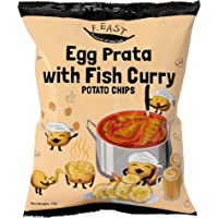 F.EAST Egg Prata with Fish Curry Potato Chips 70 Gram Bags