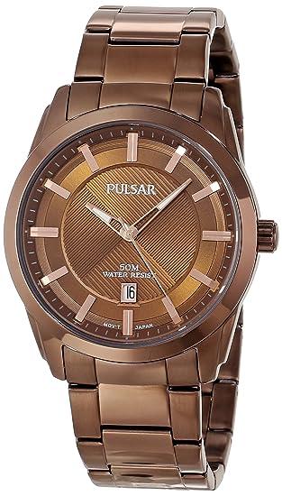 Pulsar Men s PH9019 Analog Display Japanese Quartz Brown Watch with Link  Bracelet  Amazon.ca  Watches 9503d91bab6