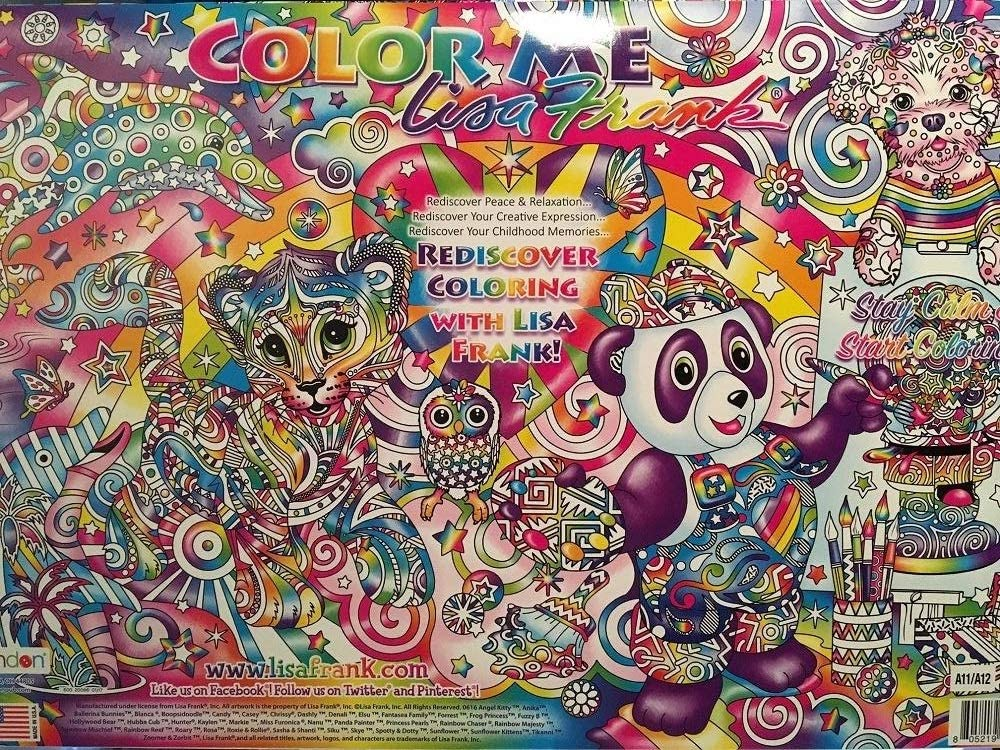 Amazon.com: Color Me Lisa Frank 12 Posters Adult Coloring Book: Toys & Games