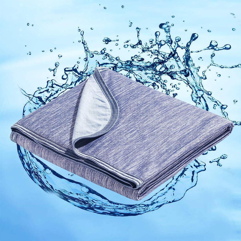 Marchpower - Manta de algodón refrigerante, última tecnología Cool -to-Touch, ligera y transpirable para sudores nocturnos, verano frío y otoño, mantas para sofá cama (azul, doble, 200,7 x 149,9 cm)