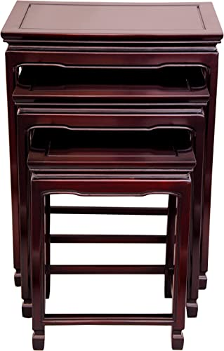 Oriental Furniture Rosewood Nesting Table