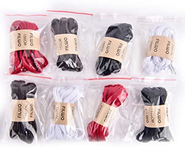 FILWO Men Flat Shoelace Women Trainer Laces 1 Pair Shoelace Wide 9MM