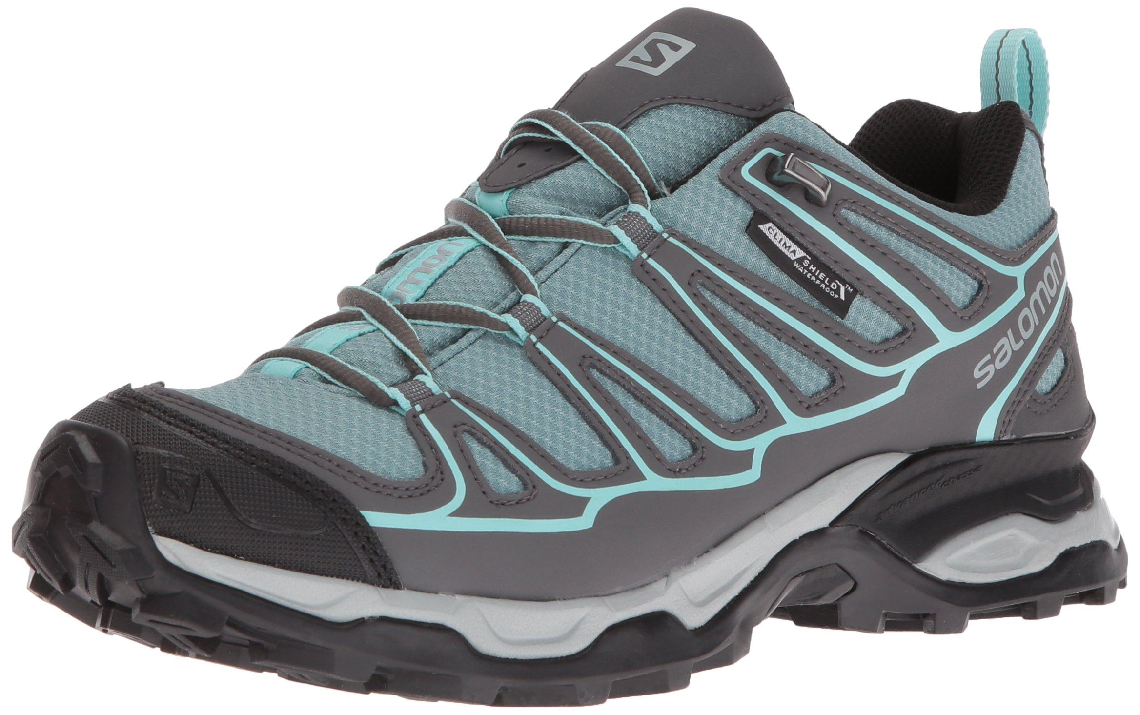 Salomon Women's X Ultra Prime CS Waterproof W Hiking-Shoes, Artic, 9 M US
