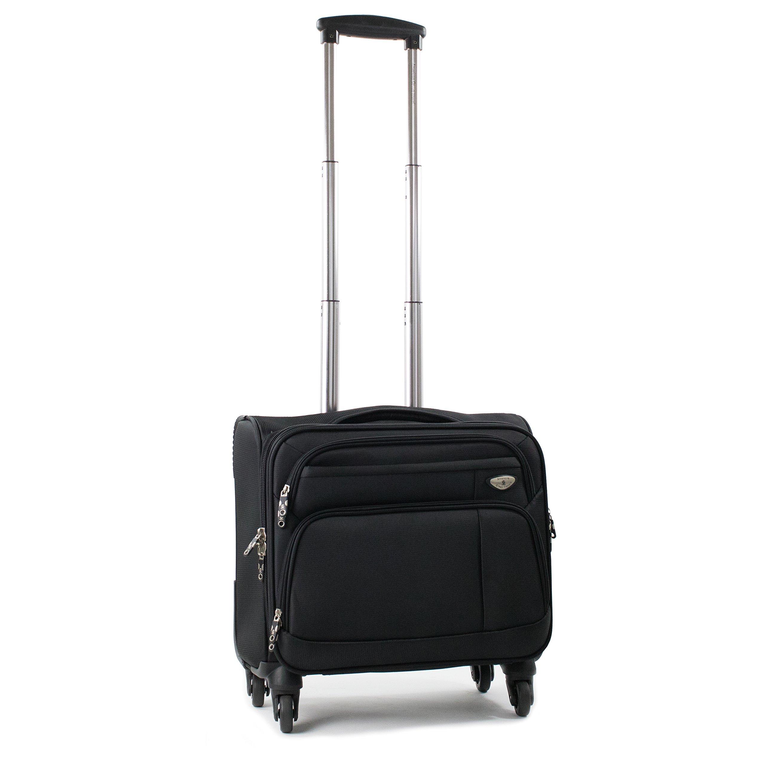 American Green Travel Franklin Spinner Laptop Briefcase, 17'' L