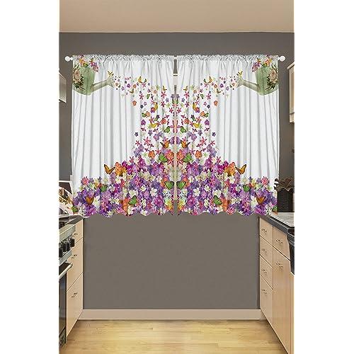 Kitchen Christmas Curtains Amazon Com: Christmas Kitchen Curtains: Amazon.com