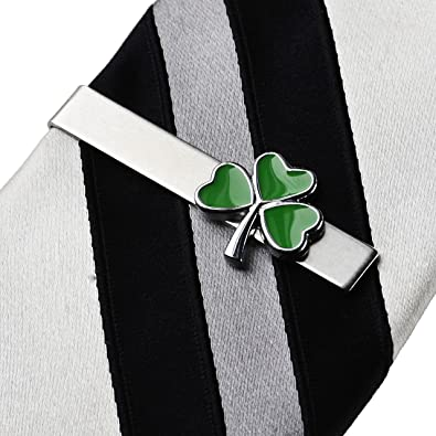 a0cb299c6e01 Image Unavailable. Image not available for. Color: Quality Handcrafts  Guaranteed Shamrock Tie Clip