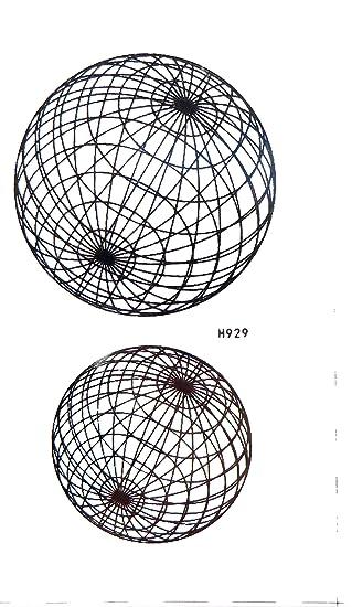 Amazon com: Sphere Globe Earth temporary tattoo temporary