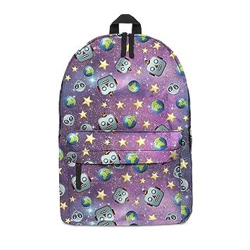Fringoo Unisex niños niñas mochila escolar mochila totalmente impreso equipaje de cabina viaje gimnasio multicolor Alien