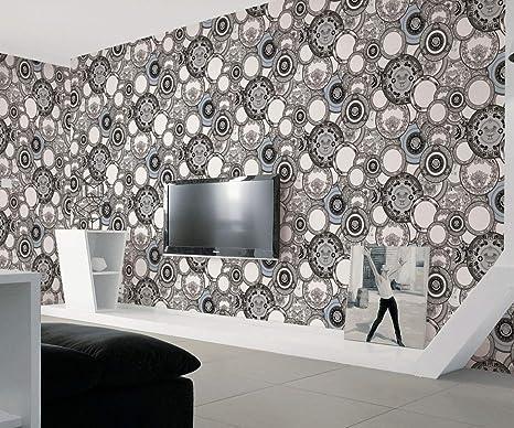 Buy Glowvia Plate Pattern Wallpaper For Wall Beautiful