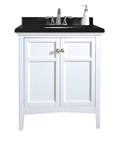 Ordinaire Ove Decors Campo 30 Bathroom 30 Inch Vanity Ensemble With Black Granite  Countertop And Ceramic