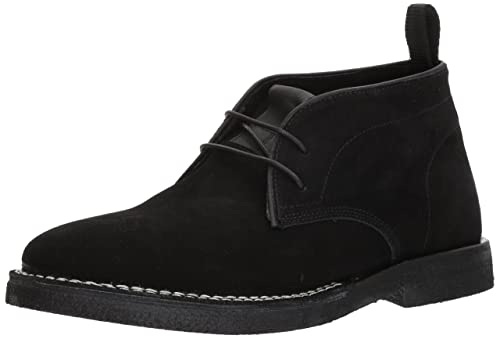 Steve Madden Men's Logik Chukka Boot, Black Suede, 7 US/US Size Conversion