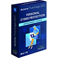 Acronis True Image 2021   3 PC/Mac   Perpetual License   Personal Cyber Protection   Integrated Backup and Antivirus