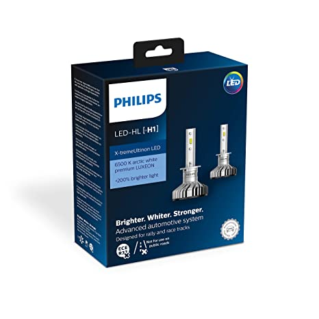 Philips 11258XUX2 X-tremeUltinon LED faros delanteros (H1) 6.500K Set de 2