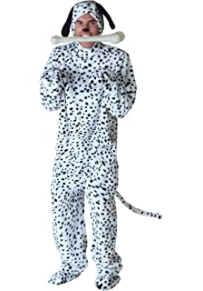 FunCostumes Black Spotted White Fur Dalmatian Dog Jumpsuit