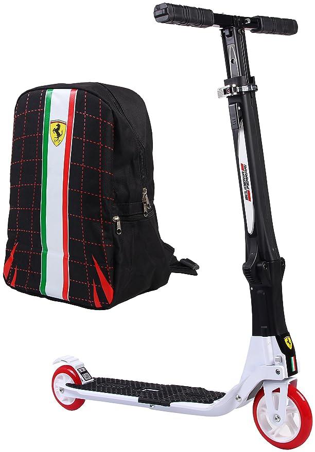 Ferrari Patinete plegable de dos ruedas con mochila gratis ...
