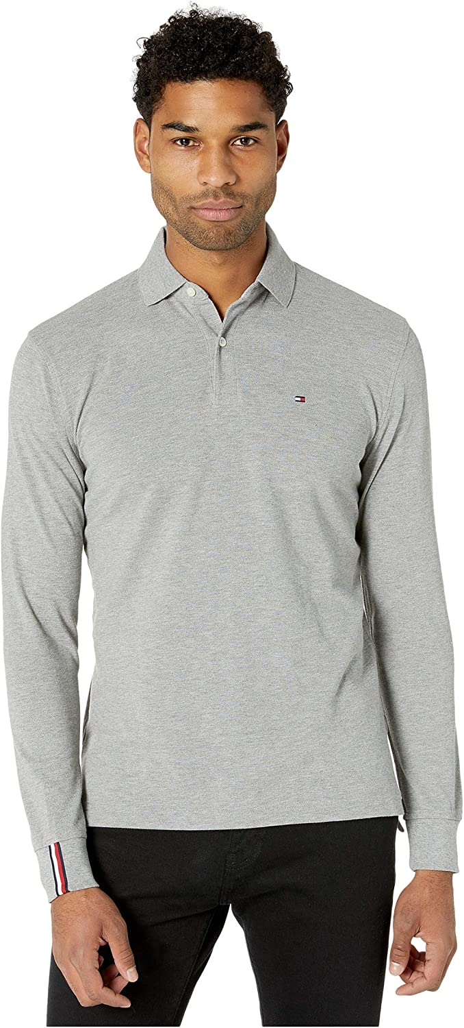 Tommy Hilfiger Mens Long Sleeve Button Down Shirt in Classic Fit Polo Shirt