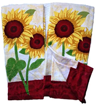 Superior Mastercuisine 2pk Kitchen Towels Sunflowers