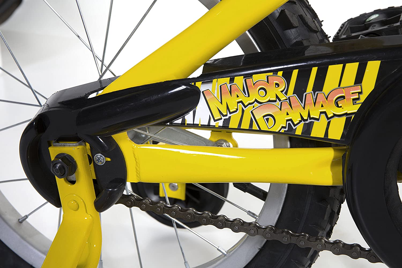 Dynacraft Magna Major Damage Boys BMX Street//Dirt Bike 16 Yellow//Black 8053-39ZTJ