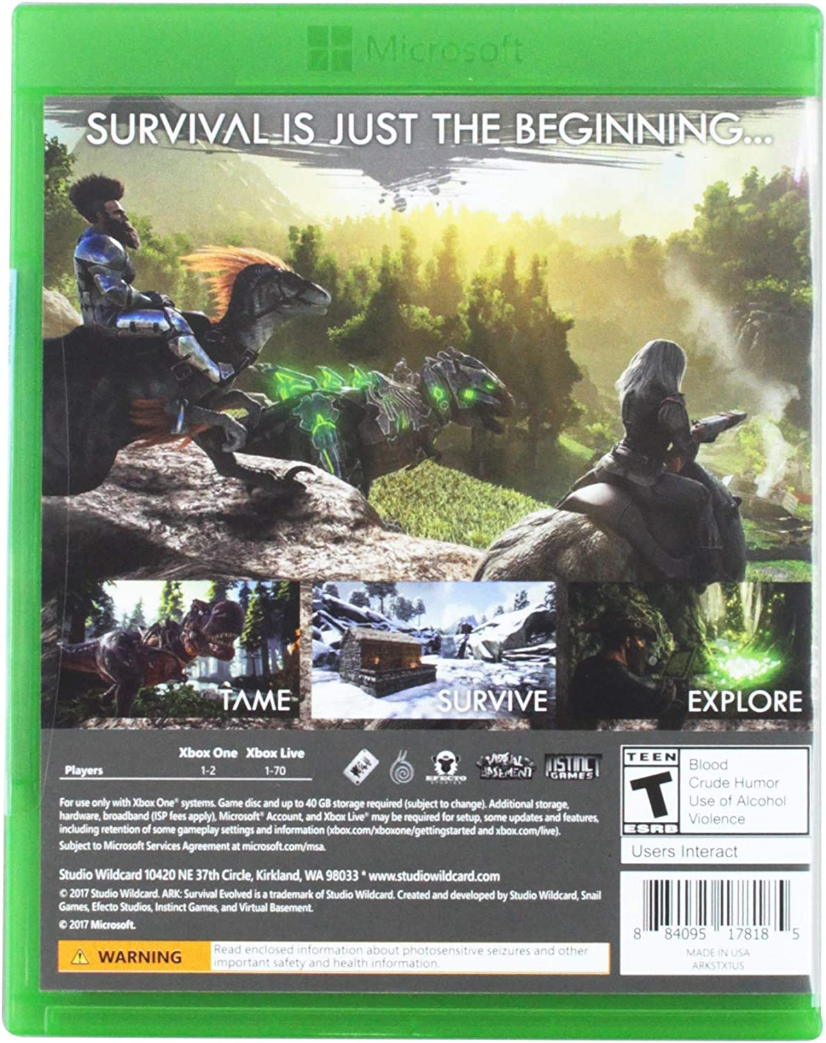 Amazon com: ARK: Survival Evolved - Explorer's Edition Xbox