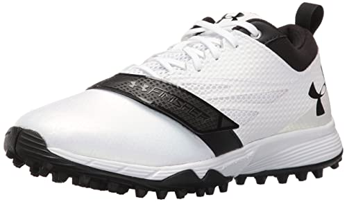 factory authentic picked up purchase cheap Under Armour Men's Lax Finisher Turf Lacrosse Shoe, White/Black