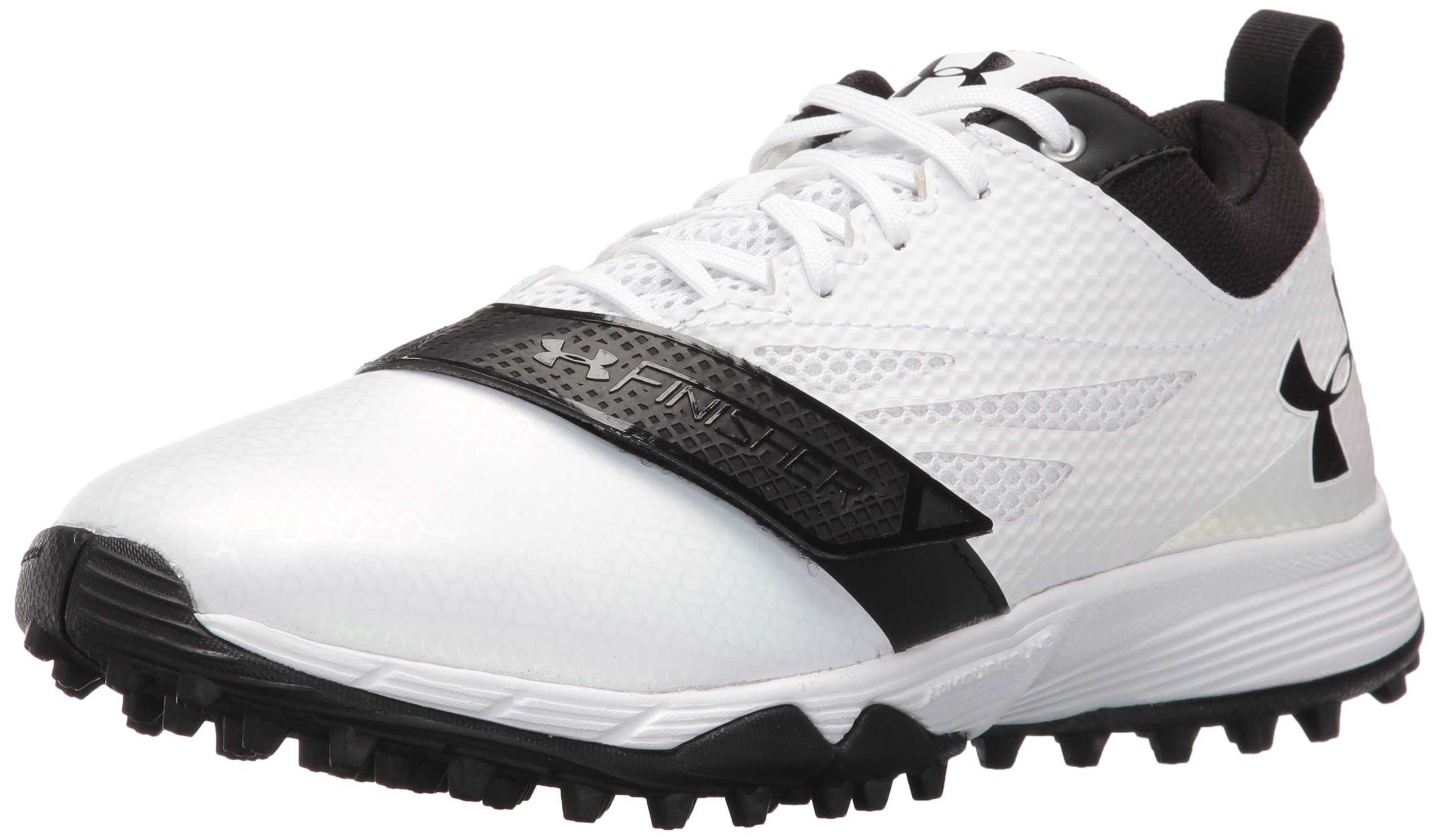 Under Armour Men's Finisher Turf Lacrosse Shoe, White (101)/Black, 6 by Under Armour