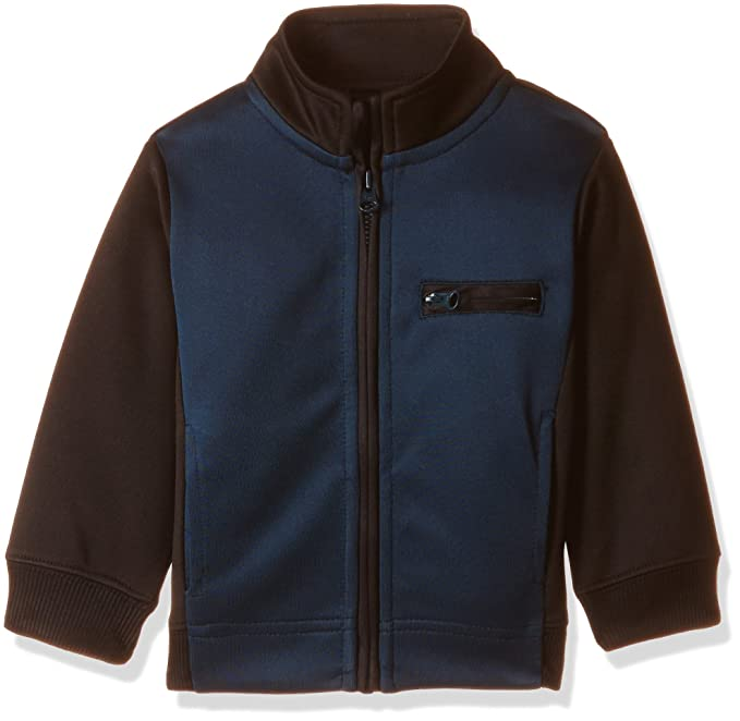 34102ba1b766 United Colors of Benetton Baby Boys  Jacket (16A3PONCK104I9010Y Charcoal  and Blue)