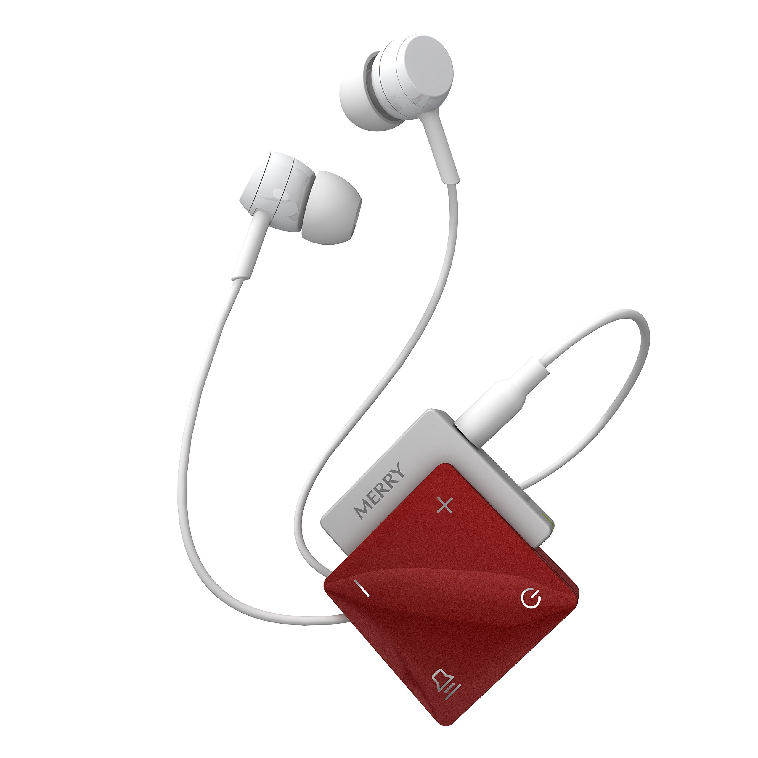 ME-300D Concerto Personal Sound Amplifier - Premium Lightweight Amplifier with Rechargeable Batteries, Earphones and Carrying Case (Red)