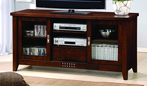 Coaster Home Furnishings 2-Door TV Console Warm Brown