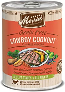 Merrick Classic Grain Free Canned Dog Food, 13,2 Oz, 12 Count Cowboy Cookout