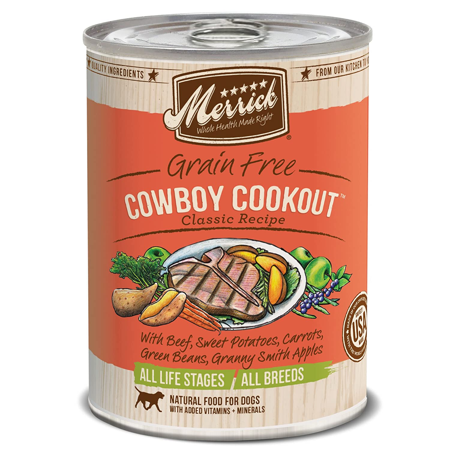 2. Merrick Grain-Free Cowboy Cookout Canned Dog Food