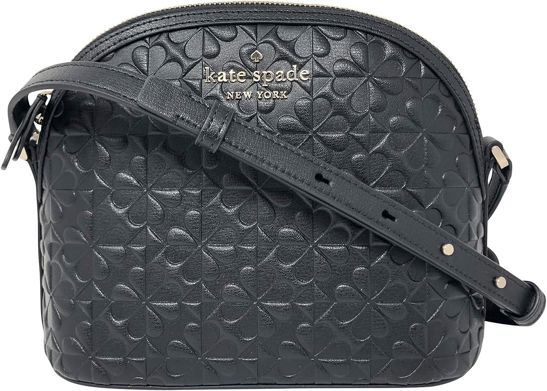 Kate Spade New York Hollie Spade Clover Geo Embossed X-Large Dome Crossbody Handbag