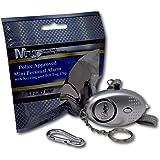 EPOSGEAR Schlüsselanhänger, Taschenlampe und Mini Alarm mit 140db Sirene (Silber)