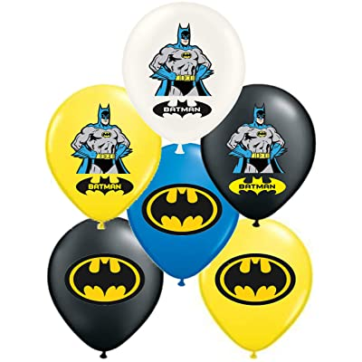 "Vision Batman 12"" Party Balloons 30 Pcs, Assorted Colors Premium Latex: Toys & Games"