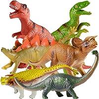 "TEPSMIGO Jumbo Dinosaur Toys 10""-13"", 6PCS Big Dinosaur Set, Huge Soft Realistic Dinosaur Figures, Including Jurassic T…"