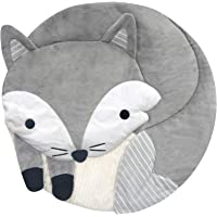 Lambs & Ivy Fox Interactive Baby Play Mat, Gray