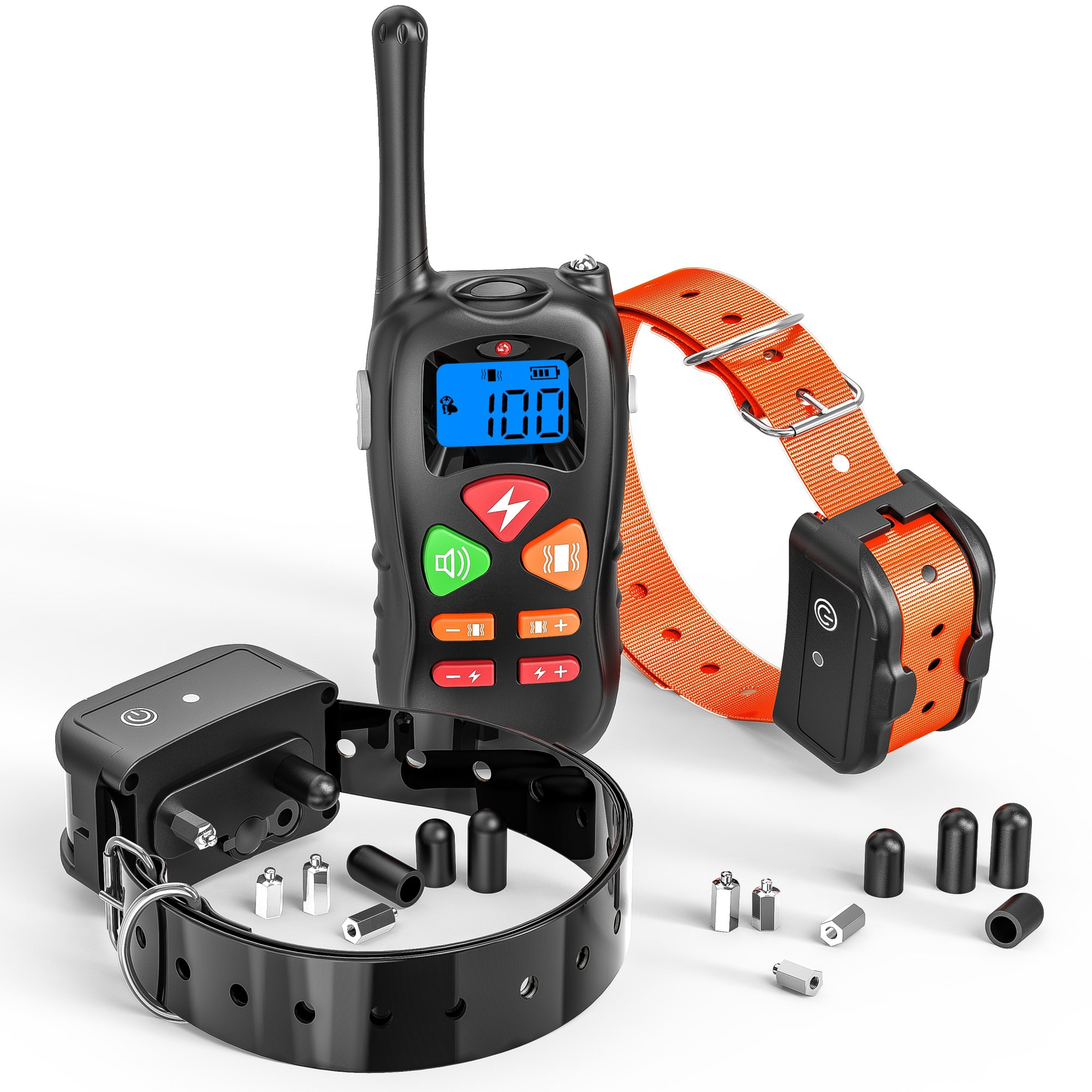 Dog Training Collar, Cambond Dual Dog Shock Collar with remote Waterproof and Rechargeable Electronic Dog Collar for Medium and Large Dogs with 3 Training Modes Shock Vibration Beep