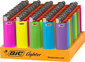 BIC Classic Lighter, Fashion Assorted Colors, 50Count Tray