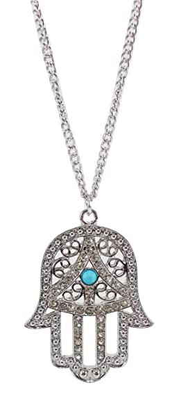 Amazon hamsa hand pendant necklace hand of fatima necklace hamsa hand pendant necklace hand of fatima necklace lucky necklace hand of god mozeypictures Image collections