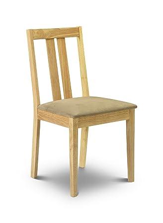 Julian Bowen Rufford Dining Chairs, Light Wood, Set of 2
