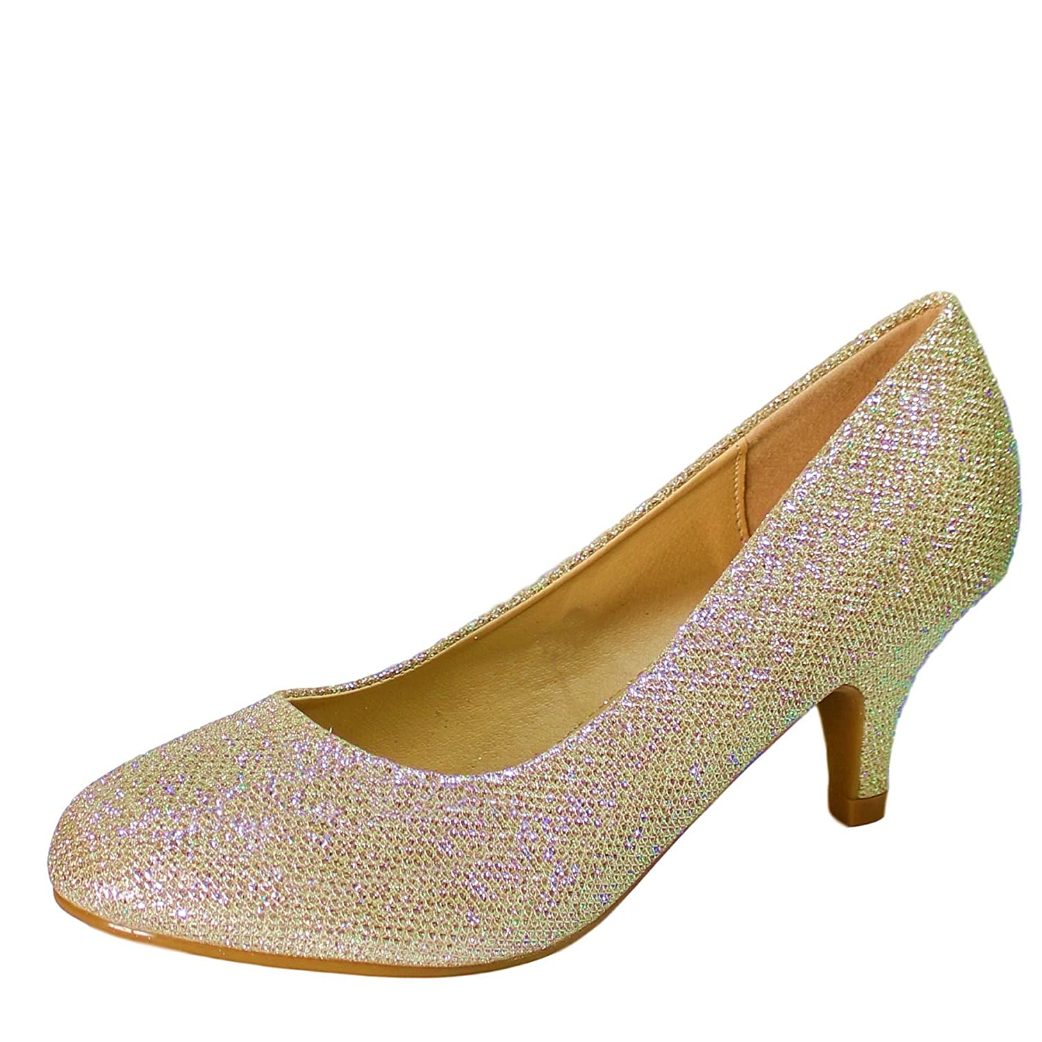69f26c8a9483e Rock on Styles New Ladies Party Prom Evening Kitten Heel Court Shoes Plus  Sizes Size 98-19