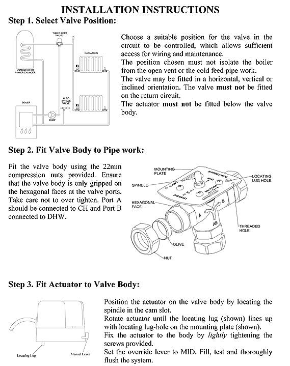 Myson act322 Mid Position Ventil ACTUATOR: Amazon.de: Baumarkt