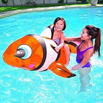 Dabuty Online, S.L. Flotador hinchable Pez Payaso Nemo para playa o piscina tamaño 157 x 94 cm: Amazon.es: Hogar